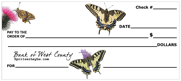 Swallowtail Butterfly Bank Checks for Kids – The Creative Salad