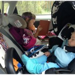 Kids reading in the car